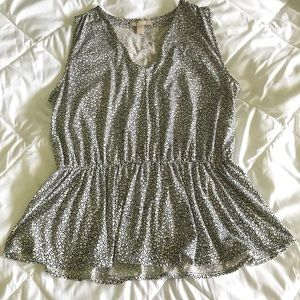 Banana Republic polka dot peplum Sz:Large